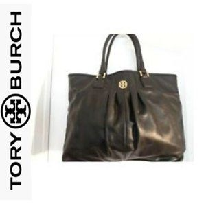 TORY BURCH VERONA LEATHER PLEATED SATCHEL